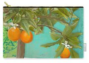 Tuscan Orange Topiary - Damask Pattern 3 Carry-all Pouch