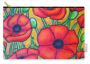 Tuscan Poppies - Crop 1 Carry-all Pouch