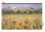Tuscany Poppies Carry-all Pouch by Nadine Rippelmeyer