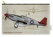 Tuskegee P-51b By Request - Profile Art Carry-all Pouch