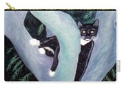 Tuxedo Cat In Mimosa Tree Carry-all Pouch