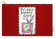 Tv And Rabbit Ears Carry-all Pouch