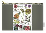 Twelve Month Flower Box Carry-all Pouch by Barbara McConoughey
