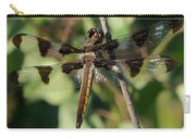 Twelve Spotted Skimmer Dragonfly Carry-all Pouch