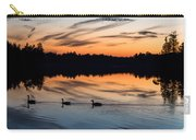 Twilight Lake Swim New Jersey Carry-all Pouch