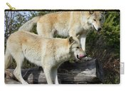 Twin Blond Wolves Carry-all Pouch