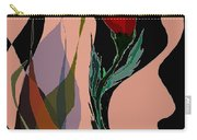 Twin Fire Flower Head 2 Carry-all Pouch by Navo Art