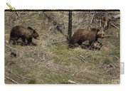 Twin Grizzlies-signed-#3299 Carry-all Pouch