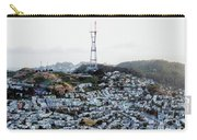 Twin Peaks In San Francisco Aerial Photo Carry-all Pouch