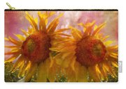 Twin Sunflowers Carry-all Pouch