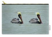 Twins Brown Pelican In Gulf Of Mexico Carry-all Pouch