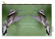 Twins Card - Hummingbirds Carry-all Pouch