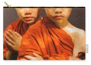 Twins In Orange Carry-all Pouch