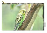Two Adorable Budgie Parakeets Living In Nature Carry-all Pouch