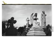 Two Angels Joseph, Jesus And A Bold Cross In A Cemetery Carry-all Pouch