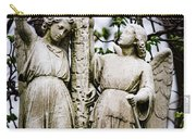 Two Angels With Cross Carry-all Pouch