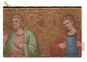Two Apostles   Fragment Of Predella   Carry-all Pouch