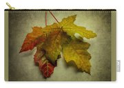 Two Autumn Leaves Carry-all Pouch