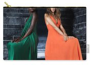 Two Beautiful Women In Elegant Long Dresses Carry-all Pouch