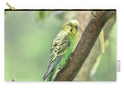 Two Beautiful Yellow Parakeets In A Tree Carry-all Pouch