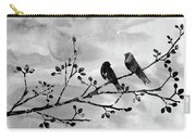 Two Birds-black Carry-all Pouch