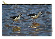 Two Black Neck Stilts  Carry-all Pouch
