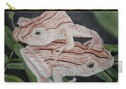 Two Brown Striped Frogs Carry-all Pouch