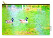 Two Canadian Geese In The Water Carry-all Pouch