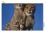 Two Cheetah Cubs Carry-all Pouch
