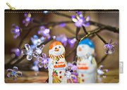 Two Chocolate Snowmen 2 Carry-all Pouch