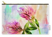 Two Clover Flowers With Pastel Shades. Carry-all Pouch