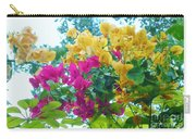 Two Color Flowers Carry-all Pouch