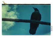 Two Crows Blue Lomo Sky Carry-all Pouch