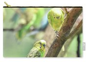 Two Cute Little Parakeets In A Tree Carry-all Pouch