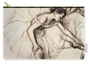 Two Dancers Resting Carry-all Pouch by Edgar Degas