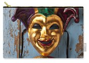 Two Decortive Masks Carry-all Pouch