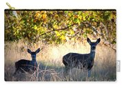 Two Deer In Autumn Meadow Carry-all Pouch