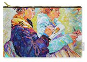 Two Drawing Ladies Carry-all Pouch