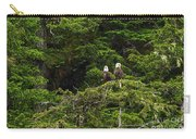 Two Eagles Perched Painterly Carry-all Pouch