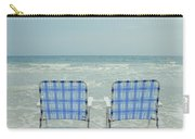 Two Empty Beach Chairs Carry-all Pouch