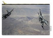 Two F-16 Fighting Falcons Break Carry-all Pouch by Stocktrek Images