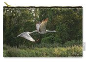 Two Florida Sandhill Cranes In Flight Carry-all Pouch