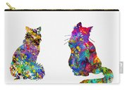 Two Fluffy Cats-colorful Carry-all Pouch
