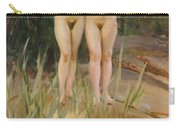 Two Friends  Carry-all Pouch by Anders Leonard Zorn