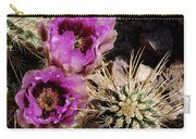 Two Fucshia Blossoms  Carry-all Pouch