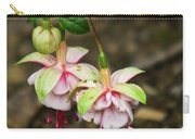 Two Fushia Blossoms Carry-all Pouch