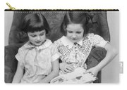 Two Girls Reading A Book, C.1920-30s Carry-all Pouch