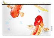 Two Goldfish Feng Shui Carry-all Pouch