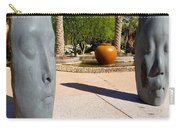 Two Heads Are Better Than One - Palm Desert Sculpture Gardens Carry-all Pouch