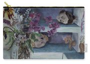Two Heads With Bouquet Carry-all Pouch
